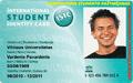 ISIC Studento/Moksleivio pažymėjimas